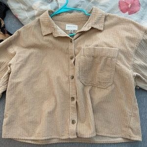 Tan corduroy jacket/shirt